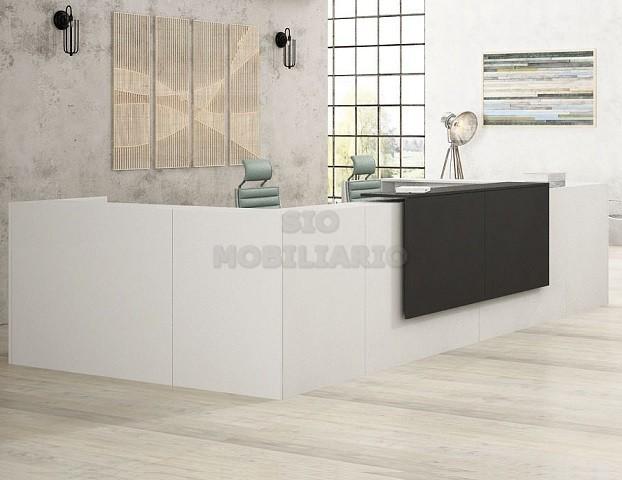 Sio mobiliario oficina madrid mostradores de recepcion for Mobiliario de oficina recepcion