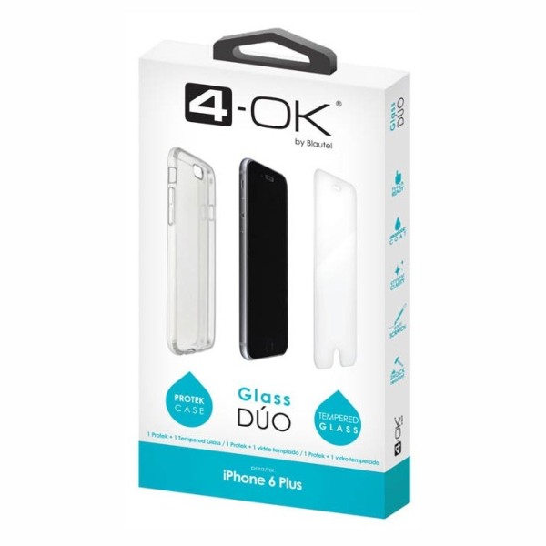 Funda Protek Glass Duo iPhone 6 Plus