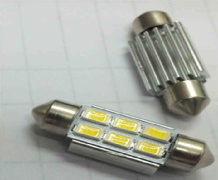 2 Bombilas plafonier can-bus 36mm. 6 leds