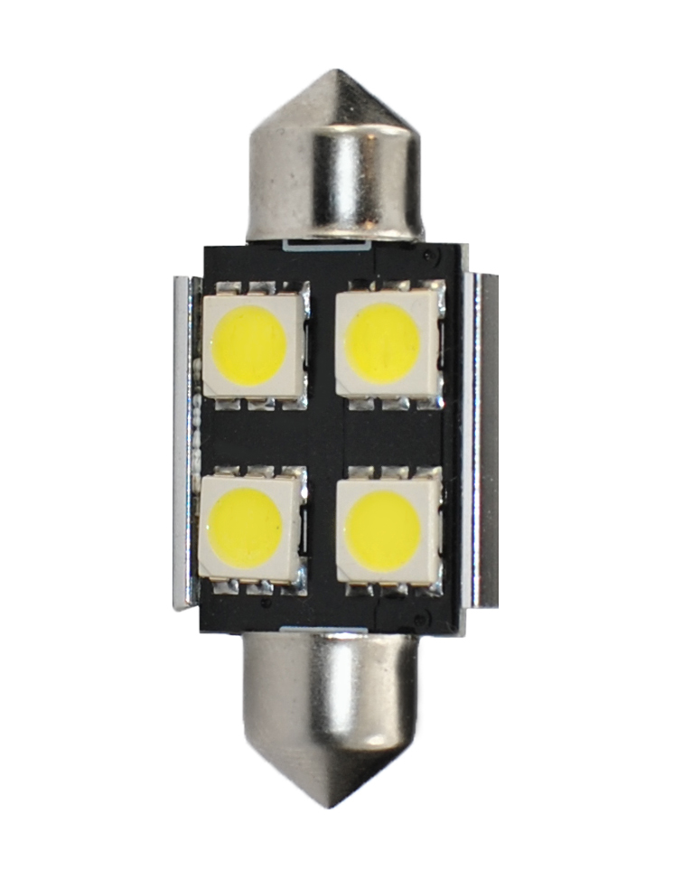 2 Bombillas led 24V Can-Bus C5W 35mm 4xSMD5050