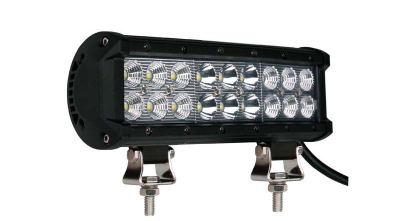 """Faro barra LED - doble fila, 54W 9"""", combo"""