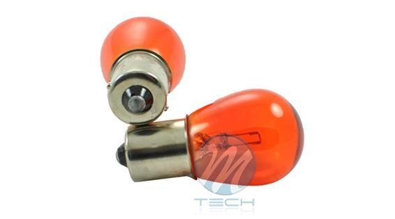 1 Bombilla halógena Stop 1 Filamento 12V 21W BA15S S25 Ambar