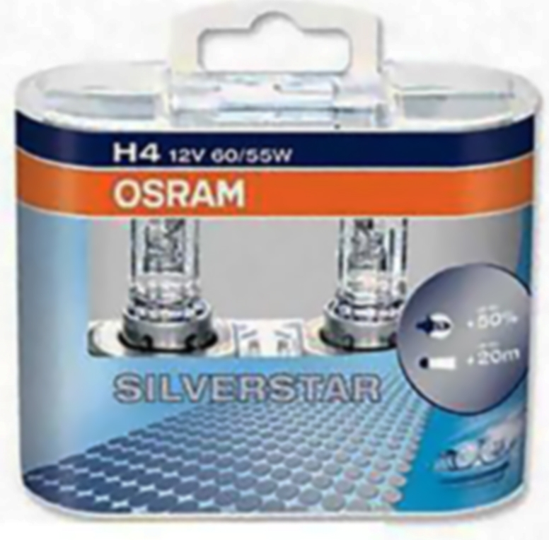 Osram 64193SV2-DUO [SILVERSTAR® 2.0] H4 12V 60/55W