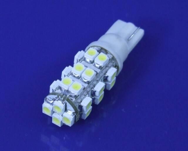 Juego Bombillas 28 Leds Blancos para posición (T10, w5w, sin casquillo, cuña)
