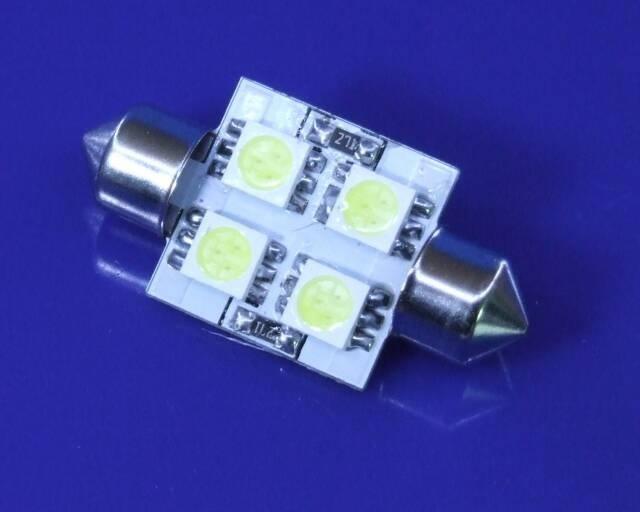 Juego Bombillas Plafonier 4 Leds blancos 36 mm. (Porta-matrículas trasero)