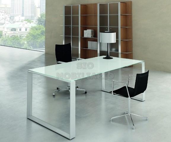 Sio mobiliario oficina madrid mesa despacho - Mesas de despacho de cristal ...