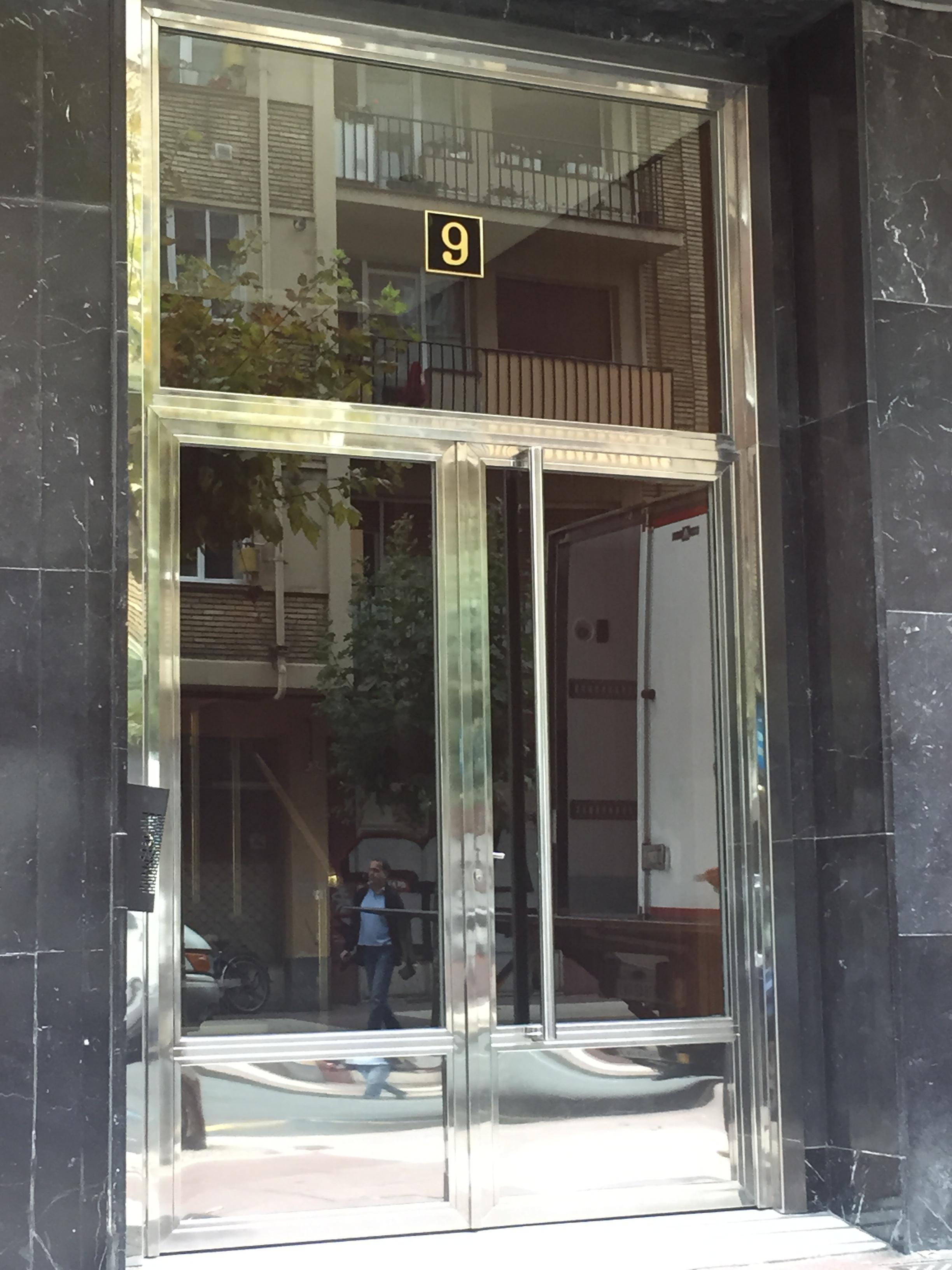 Precio puerta portal acero inoxidable excellent cool - Portal de corredera ...
