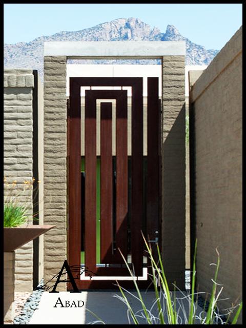 Puertas met licas de exterior cancelas de hierro y forja for Puertas exterior metalicas baratas