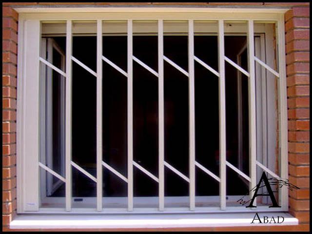 Rejas modernas para ventanas carpinter a met lica abad for Estilos de puertas metalicas