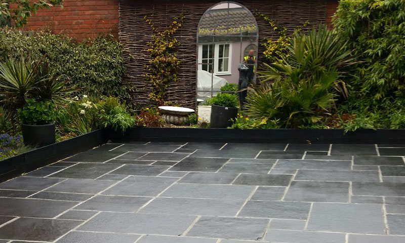 patio with stone