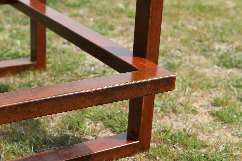mesas de diseo en acero corten