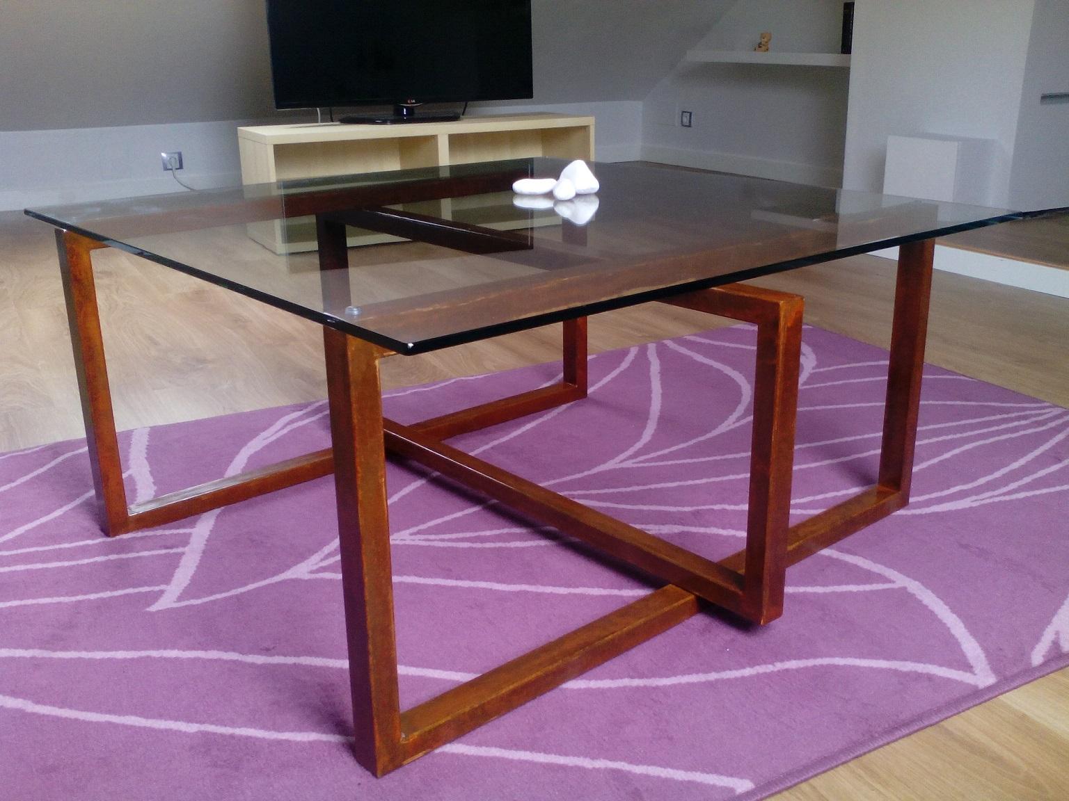 Mesas de hierro y madera - Mesa madera hierro ...