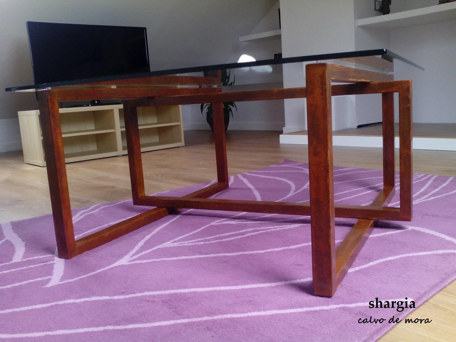 Mesas de hierro y cristal de dise o - Mesas cristal diseno ...