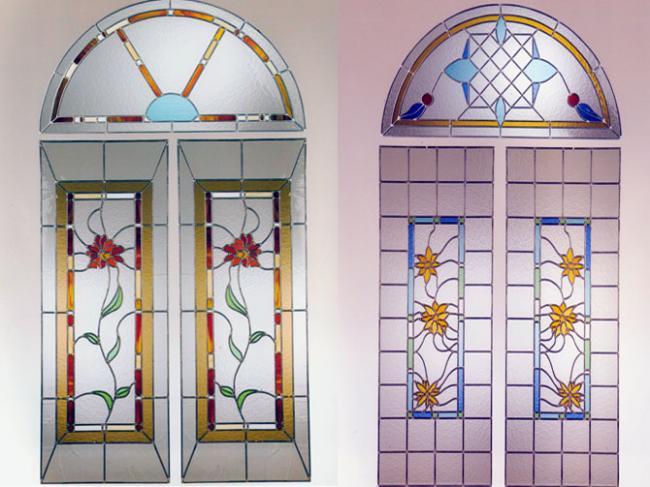 Servicios for Cristales decorados para puertas de salon