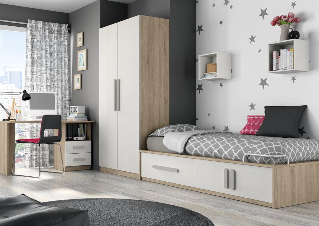 Dormitorio juvenil for Dormitorios compactos