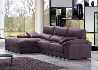 Tapiceria chaiselongue morada