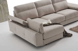 Tapiceria detalle chaiselongue brazo reclinable