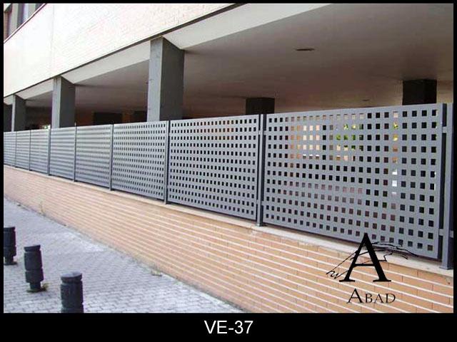 valla metlica de chapa perforada para comunidades - Vallas Metalicas Jardin