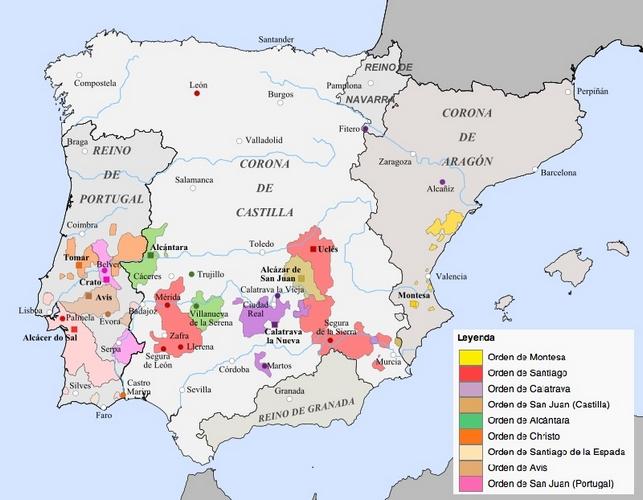 Mapa rdenes Militares siglo XVjpg