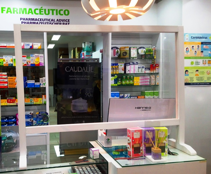 Mampara Farmacia