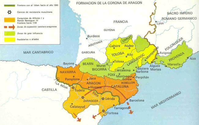 Mapa Aragn siglo XIIjpg