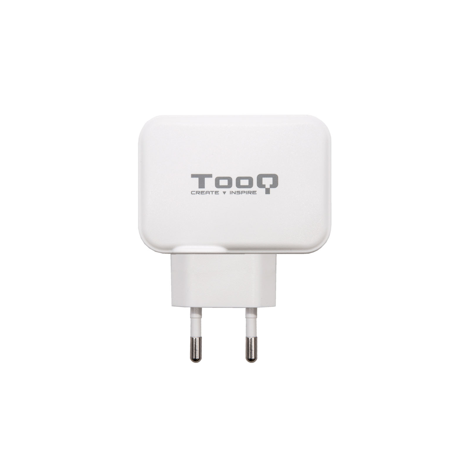 CARGADOR PARED DOBLE PUERTO USB-C + USB A 27W BLANCO