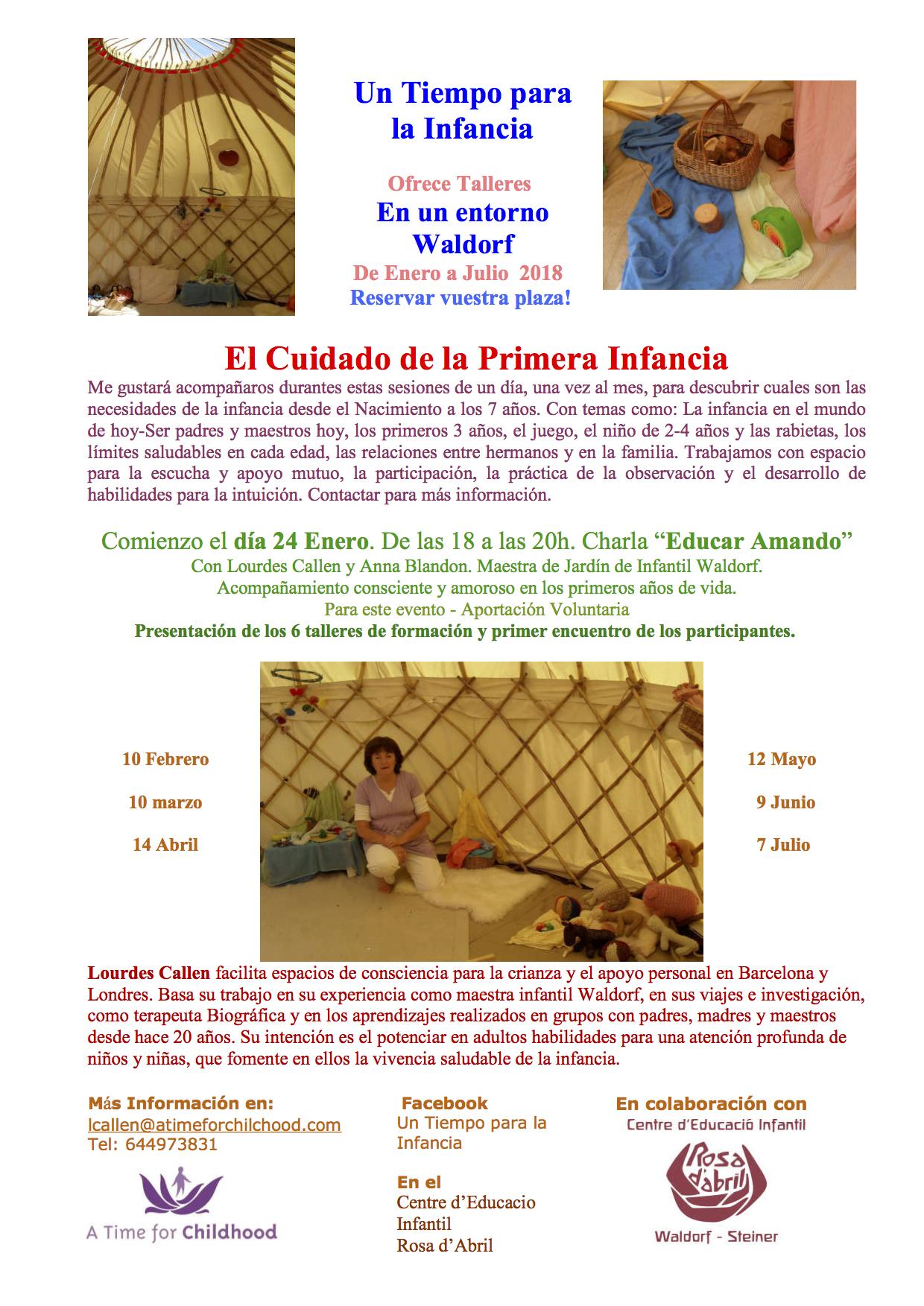 Educar Amando-El cuidado de la Infancia Lourdes Callen 2018jpg