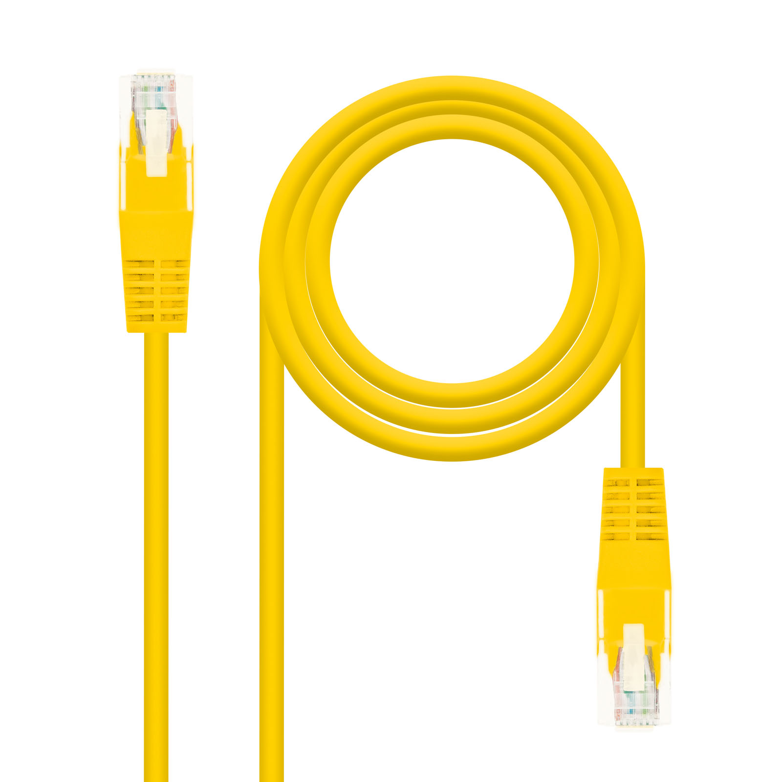 CABLE RED LATIGUILLO RJ45 CAT.5E UTP AWG24 AMARILLO 0.5 M