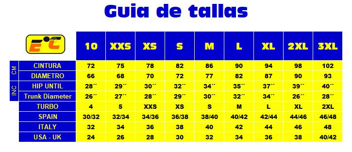 BAADORES HOMBRE EL CUERVO - GUIA DE TALLASjpg