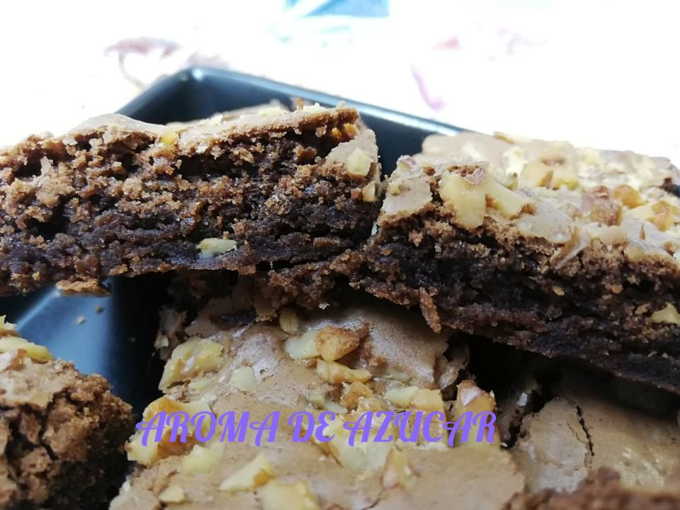 RECETA brownie, brownie, nueces