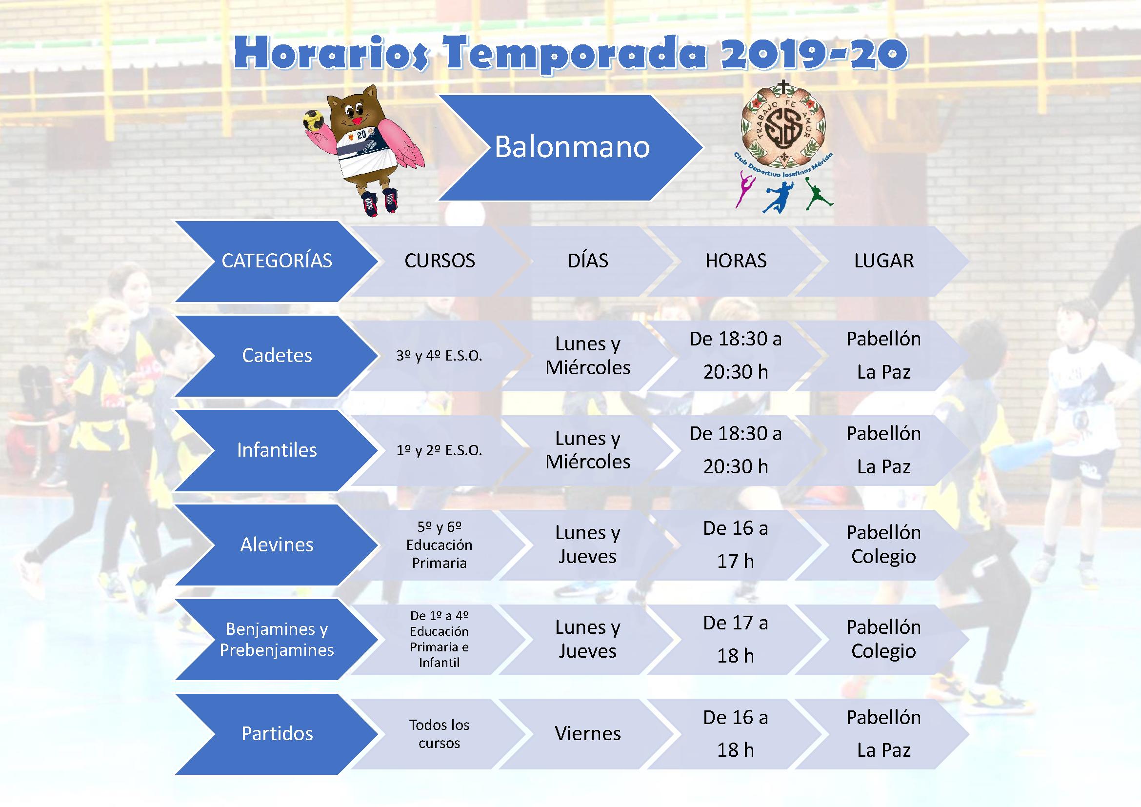 Horarios Balonmano Temporada 19-20png