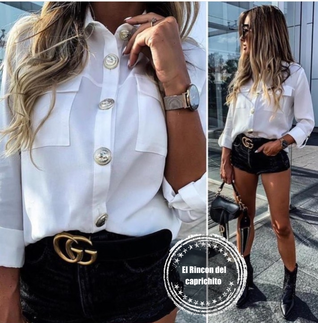 Camisa metal button
