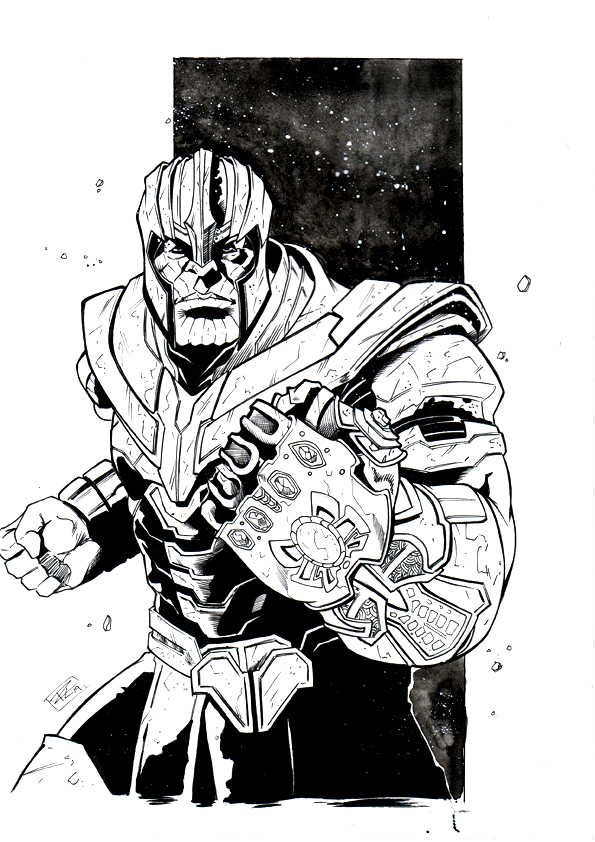 """ THANOS ARMORED"" Noir"