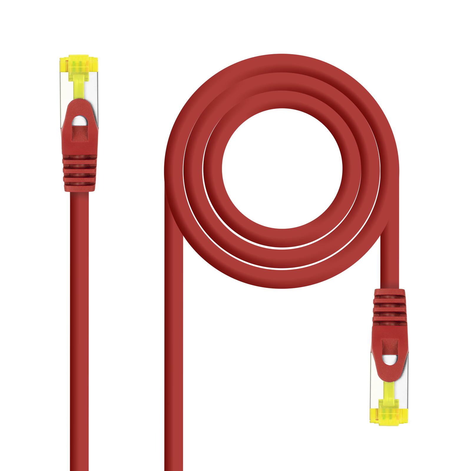 CABLE RED LATIGUILLO RJ45 LSZH CAT.6A SFTP AWG26 ROJO 0.5 M