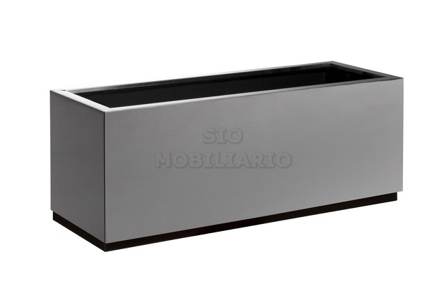 Jardinera STEEL rectangular.