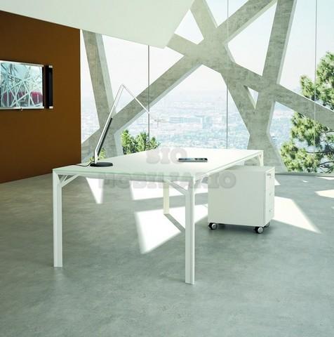 SIO Mobiliario Oficina Madrid - Mesa Despacho X8 CRISTAL