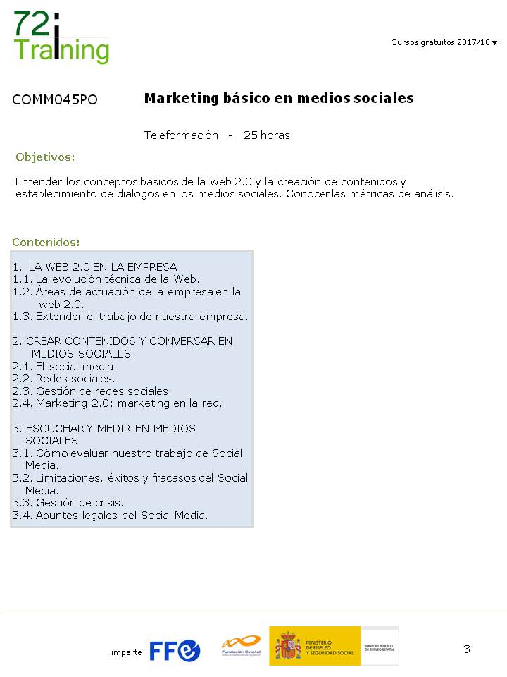 COMM045PO - Marketing Básico en Medios Sociales