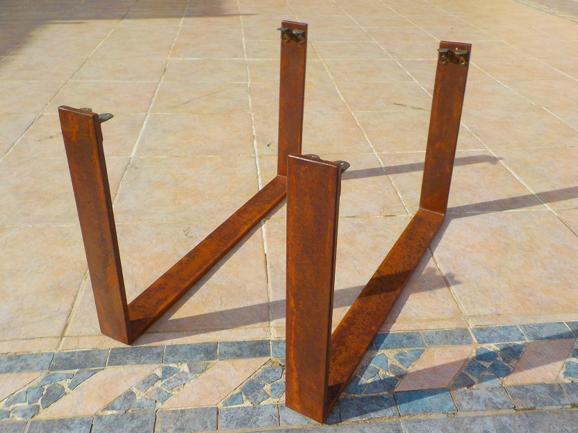 Patas de hierro para mesas for Patas acero para mesas
