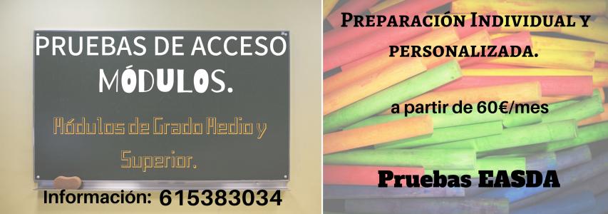 Cursos Para La Preparación A Las Pruebas De Acceso De