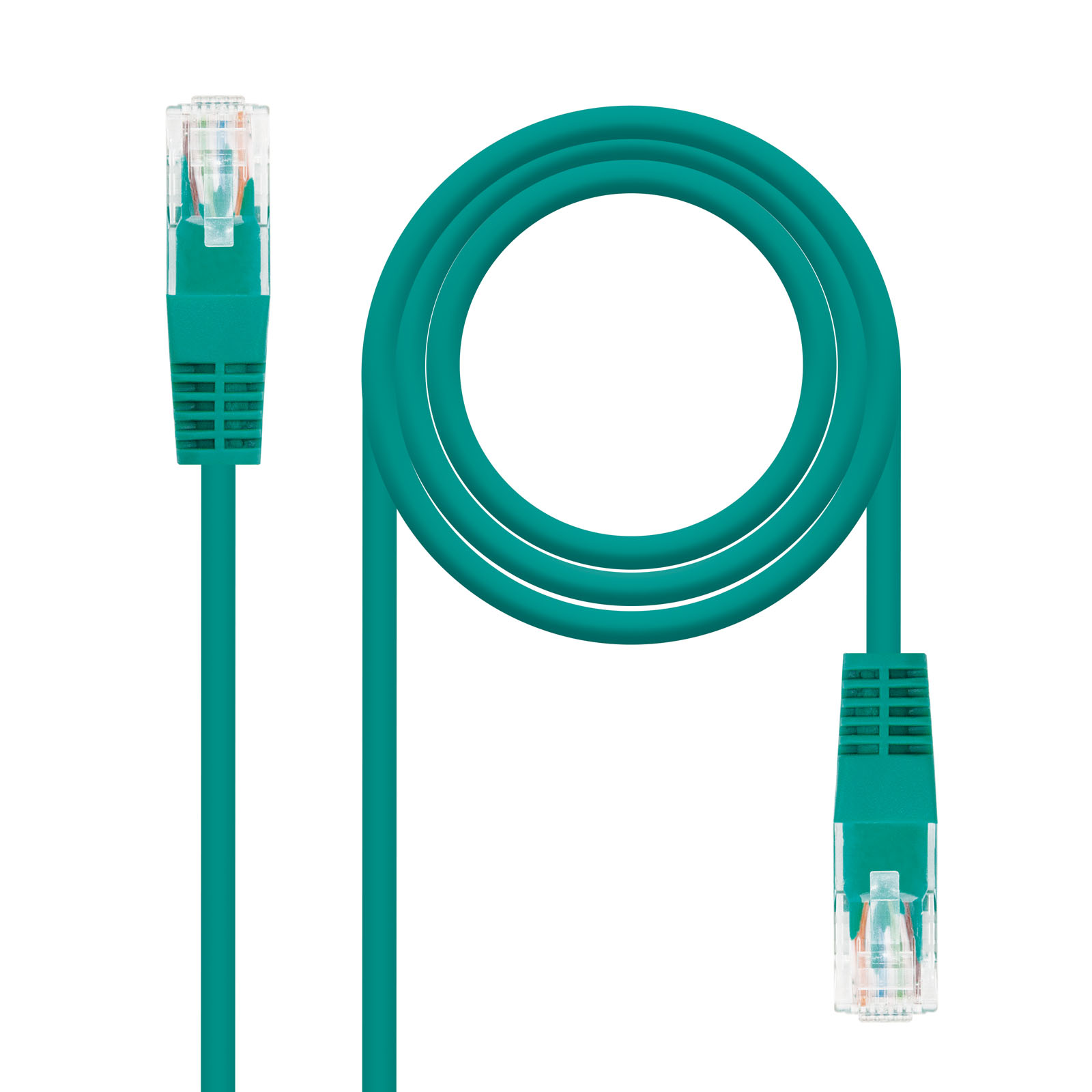 CABLE RED LATIGUILLO RJ45 CAT.6 UTP AWG24 VERDE 2.0 M