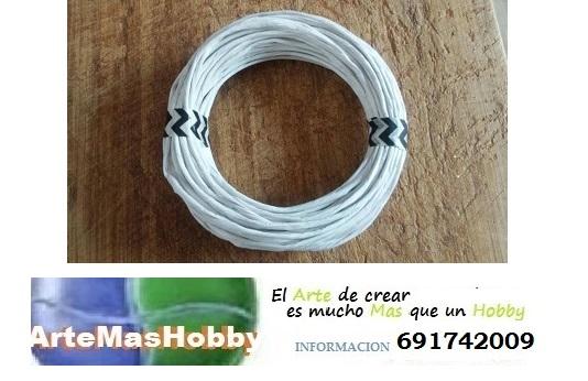Cordel de Anea blaco Simil para cesteria venta on line 20 metrosjpg