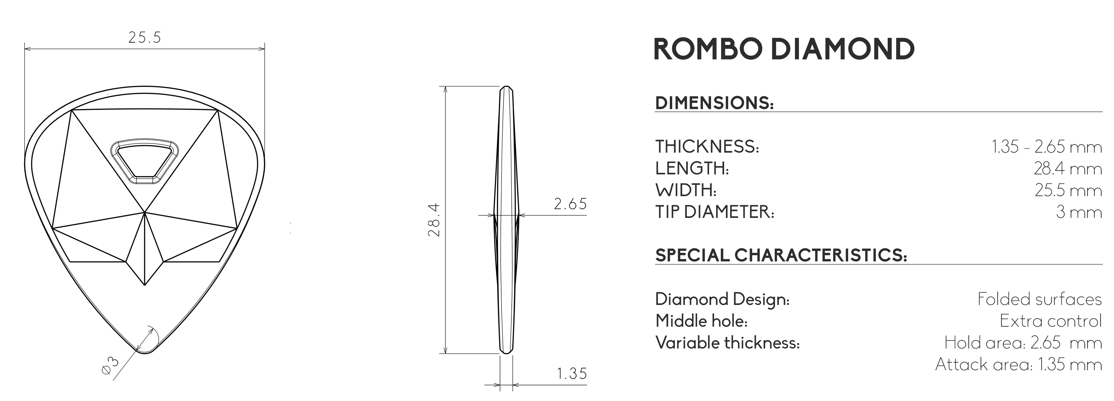 rombo guitarpick diamond