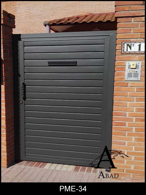 Puertas met licas de hierro exterior cancelas de hierro y - Puertas metalicas para exteriores ...