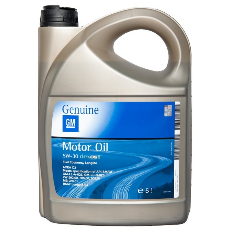 ACEITE GENERAL MOTORS DEXOS2 5W 30