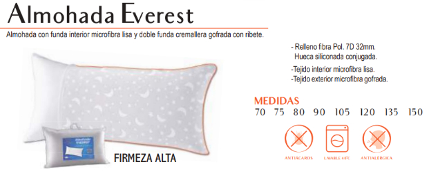 Almohada everest