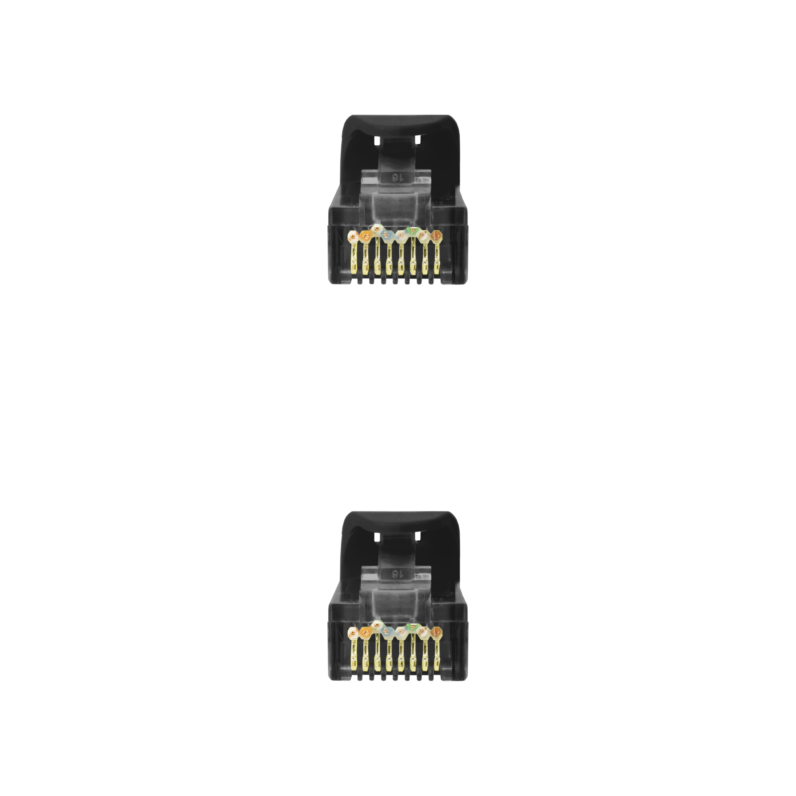 CABLE RED LATIGUILLO RJ45 LSZH CAT.6A UTP AWG24 NEGRO 0.5 M