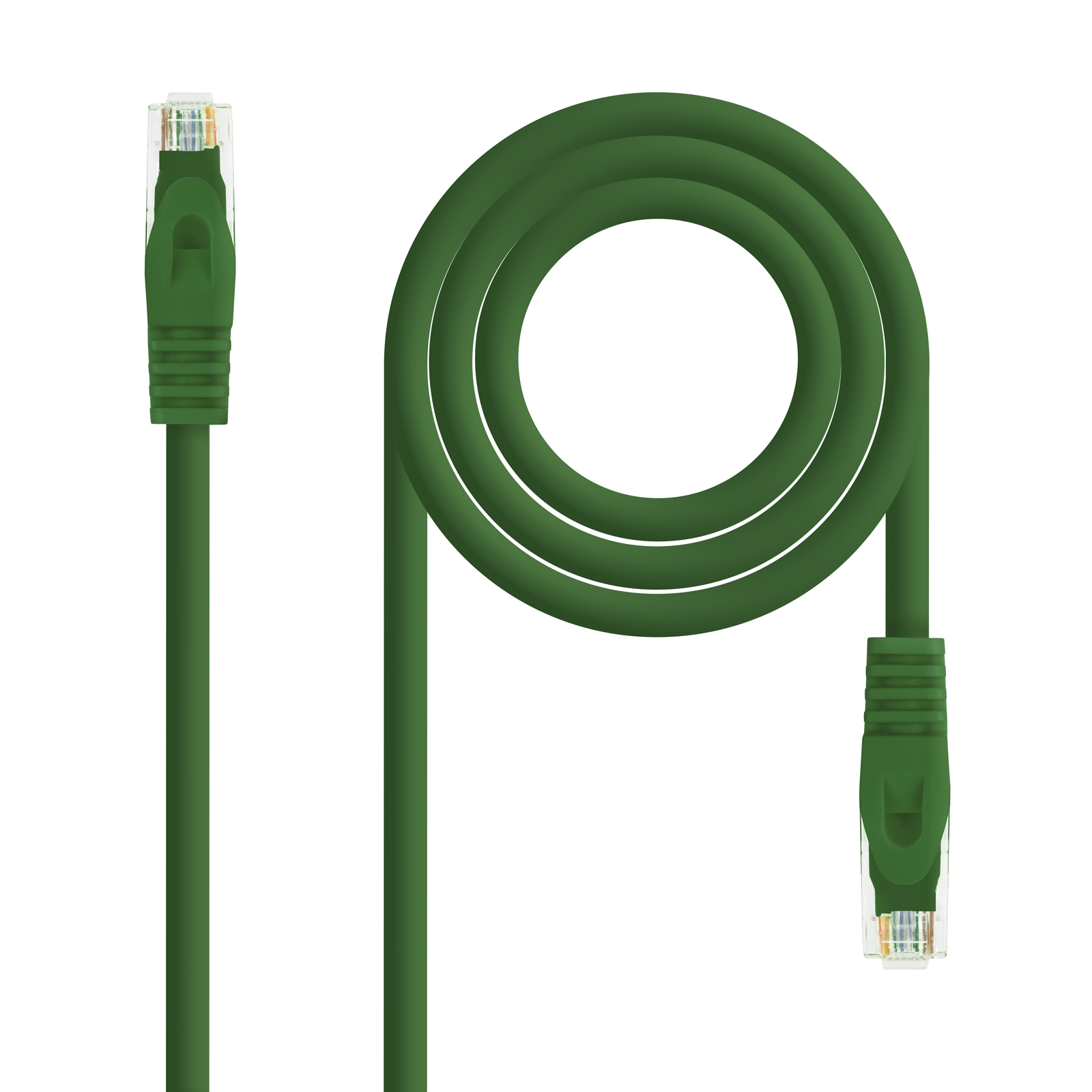 CABLE RED LATIGUILLO RJ45 LSZH CAT.6A UTP AWG24 VERDE 2.0 M